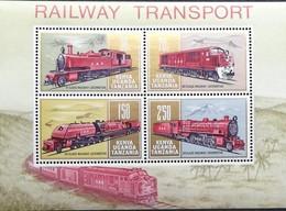 Kenya,Uganda & Tanganyika 1971 Locomotive S/S - Kenya, Uganda & Tanganyika
