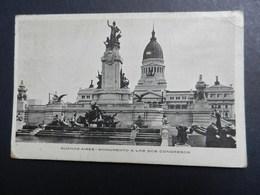 19924) BUENOS AIRES MONUMENTO A LOS DOS CONGRESOS NON VIAGGIATA - Argentina