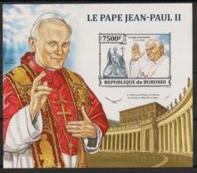 Burundi - 2013 - Bloc BF N°373 - Jean-Paul II - Non Dentelé / Imperf. - Neuf Luxe ** / MNH / Postfrisch - Papi
