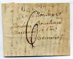 Dept Conquis Des Forets  / 98 BASTOGNE / 1811 - Marcophilie (Lettres)