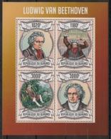 Burundi - 2013 - N°1962 à 1965 - Beethoven - Neuf Luxe ** / MNH / Postfrisch - Cote 18€ - Musique
