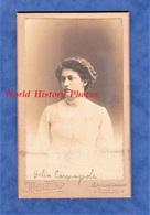 Photo Ancienne CDV Vers 1910 - TOULON - Portrait D' Helise ? CARMAGNOLE - Photographe Moretta Coiffure Fille Mode - Photos