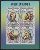 Burundi - 2013 - N°1990 à 1993 - Robert Schumann - Neuf Luxe ** / MNH / Postfrisch - Cote 18€ - Musique