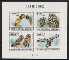 Burundi - 2013 - N°2122 à 2125 - Hiboux - Non Dentelé / Imperf. - Neuf Luxe ** / MNH / Postfrisch - Cote 18€ - Hiboux & Chouettes
