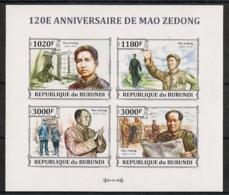 Burundi - 2013 - N°2178 à 2181 - Mao Tse-Tung - Non Dentelé / Imperf. - Neuf Luxe ** / MNH / Postfrisch - Cote 18€ - Mao Tse-Tung
