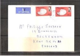 Cover From Mauritius To England - 1974 - Maurice (1968-...)
