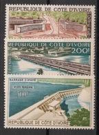 Cote D'Ivoire - 1959 - Poste Aérienne PA N°Yv. 18 à 20 - Vues - Neuf Luxe ** / MNH / Postfrisch - Costa D'Avorio (1960-...)