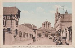 CPA Saint-Leu-la-Forêt - Avenue De La Gare (avec Véhicules Années 30/40) - Saint Leu La Foret