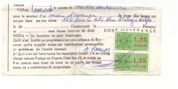 Maroc. 2 Timbres Fiscaux Sur Reçu De Loyer. 1991 - Marruecos (1956-...)