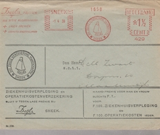 LSC 1939 - EMA - SNEEK  1.4.39 - NV ZEIJL's VERZEKERING MAATSCHAPPIJ - NEDERLAND 1/2 CENT - Machine Stamps (ATM)