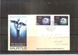 Cover From Mauritius To England - 1970 (to See) - Maurice (1968-...)