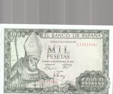 1000 Pesets 1965 - [ 3] 1936-1975 : Regency Of Franco