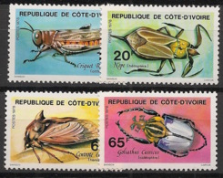 Cote D'Ivoire - 1978 - N°Yv. 463 à 466 - Insectes - Neuf Luxe ** / MNH / Postfrisch - Insectes