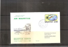 First Flight Mauritius-Zurich 1983 (to See) - Maurice (1968-...)