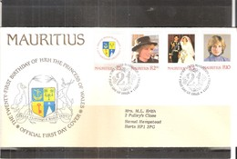 FDC Mauritius - Diana - 1982 - Complete Set (to See) - Maurice (1968-...)