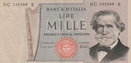 1000 Lires 1966 - [ 2] 1946-… : République