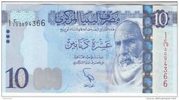 LIBYA 10 DINARS 2015 2016 P-82 UNC */* - Libya