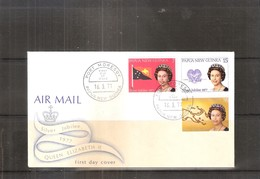 FDC Papua New Guinea - Silver Jubilee 1977 - QEII - Complete Set (to See) - Papouasie-Nouvelle-Guinée