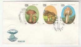 1988 CUBA FDC Stamps MUSHROOMS Mushroom Fungi Cover - Mushrooms