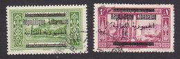 Lebanon, Scott #87-88, Used, Scenes Of Lebanon Surcharged, Issued 1928 - Great Lebanon (1924-1945)