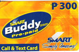 PHILIPPINES - Smart Buddy Prepaid Card P 300, Exp.date 31/07/04, Used - Filippine
