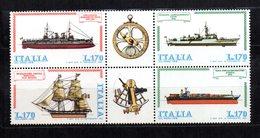 ITALIA REPUBBLICA 1978 COSTRUZIONI NAVALI 170L Sass 1412-1415 BLOCCO MNH** . - 6. 1946-.. Republic
