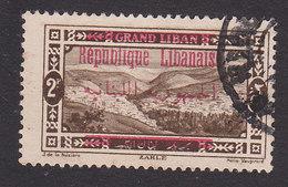 Lebanon, Scott #90, Used, Scenes Of Lebanon Surcharged, Issued 1928 - Great Lebanon (1924-1945)