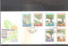 FDC Tokelau - Trees-Fruits-Herbs - 1985 - Complete Set (to See) - Tokelau