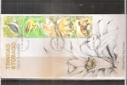 FDC Trinidad & Tobago - Rare Animals - 1989 - Complete Set (to See) - Trinité & Tobago (1962-...)