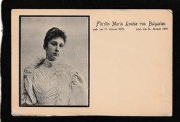 Bulgaria-Furstin Maria Louise Von Bulgarien 1901 - Antique Postcard - Bulgaria