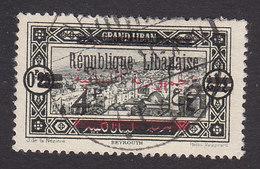 Lebanon, Scott #96, Used, Scenes Of Lebanon Overprinted, Issued 1928 - Great Lebanon (1924-1945)