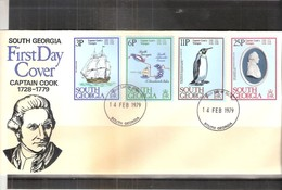 FDC South Georgia - Captain Cook - 1979 - Complete Set (to See) - Géorgie Du Sud