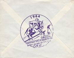 LSC 1964 -Cachet Karuizawa   Sur Timbre Et Au Dos 1964  KARUIZAWA Sport Equestre / Cheval Saut D'obstacle (Olympique ?) - 1926-89 Emperador Hirohito (Era Showa)