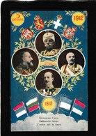 Czech Republic-4 Leaders In A Great View 1912 - Antique Postcard - Repubblica Ceca