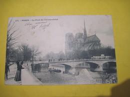CPA 75 PARIS Le Pont De L'Archevéché Notre-Dame  1904 Dos Simple  TBE - Notre Dame De Paris