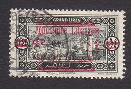 Lebanon, Scott #104, Used, Scenes Of Lebanon Overprinted, Issued 1928 - Great Lebanon (1924-1945)