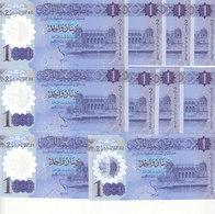 LIBYA 1 DINAR 2019 P-new LOT X10 UNC POLYMER NOTES */* - Libië