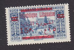 Lebanon, Scott #106, Mint Hinged, Scenes Of Lebanon Overprinted, Issued 1928 - Great Lebanon (1924-1945)