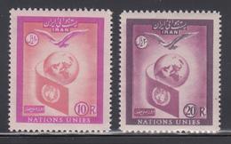 Persien / Iran 1957 Tag Der Vereinten Nationen UNO ,  Mi.-Nr. 1018-19 **  - Iran