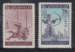 Persien / Iran 1960 Olympische Spiele Rom , Mi.-Nr. 1080-81 **  - Iran