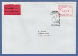 RSA 1986 Sonder-ATM Johannesburg Mi.-Nr 2 Hoher Wert 1,64 Auf Inl.-Priority-Bf. - Vignettes D'affranchissement (Frama)