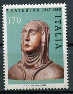 Italia Repubblica (1980) - S. Caterina Da Siena ** - 6. 1946-.. Repubblica