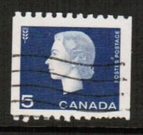 CANADA  Scott # 409 VF USED (Stamp Scan # 491) - 1952-.... Reign Of Elizabeth II