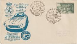 56-Tematica Auto-Spagna-50° Ann.Real Automobil Club-1953 X Verona - Automobili