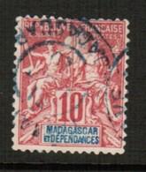 MADAGASCAR  Scott # 34 VF USED (Stamp Scan # 491) - Madagascar (1889-1960)