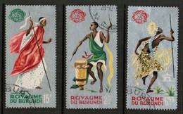 BURUNDI  Scott # 88a-94b VF USED (Stamp Scan # 491) - Burundi
