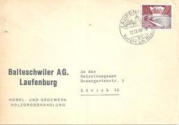 "Motiv Brief  ""Balteschwiler AG, Holzgrosshandel, Laufenburg""          1960 - Suisse"