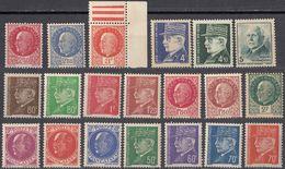 FRANCE - 1941/1942 - Lotto Di 22 Valori Nuovi MNH:  Yvert 505/521, 522/524. - Nuovi