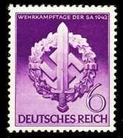 3. REICH 1942 Nr 818 Postfrisch S1DC03A - Allemagne