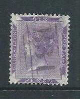 Sierra Leone 1859 QV 6d Bright Reddish Violet Very Attractive Used , Shallow Thin - Sierra Leone (...-1960)